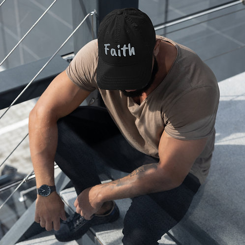 Faith – Distressed Dad Hat