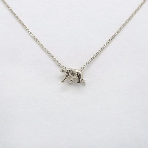 Bear Necklace Silver