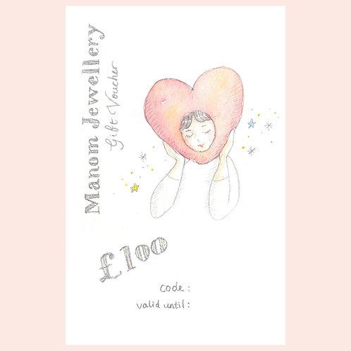 £100 Gift Voucher Including Donation for Mind