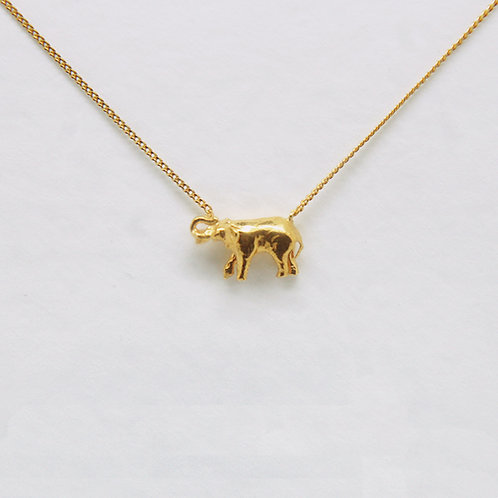 -SALE- Elephant Necklace Gold Plated