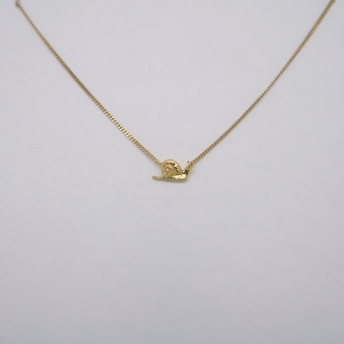 Snail Necklace Gold Plated