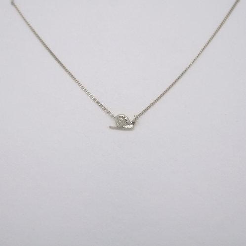 Snail Necklace Silver