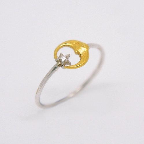 Mini Moon&Star Ring