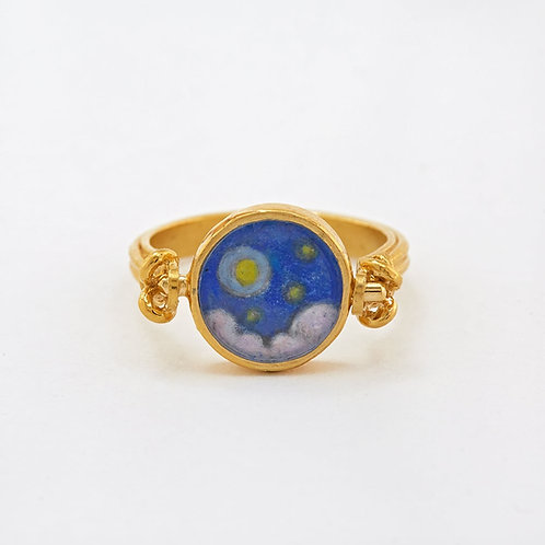 Day&Night Flip Ring Gold Plated