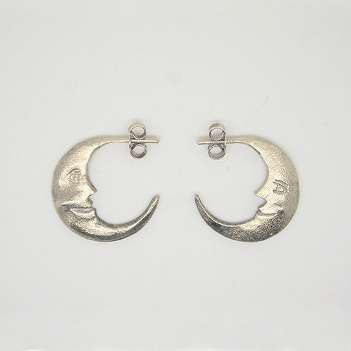 Crescent Moon Earring Silver