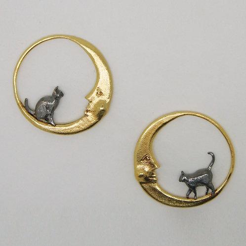 Moon and Luna Loop Earrings