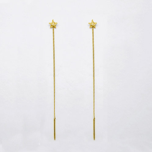 Star Drop Earrings Gold Plated