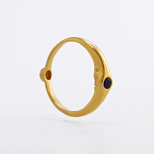 Day&Night Ring, Gold Plated