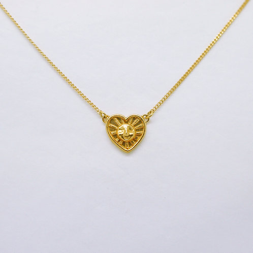 Sunrays of Love Necklace, Gold Plated