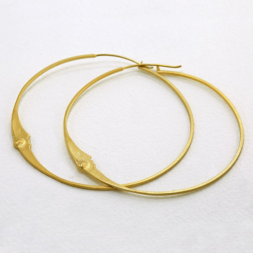 Super Moon Hoop Gold Plated