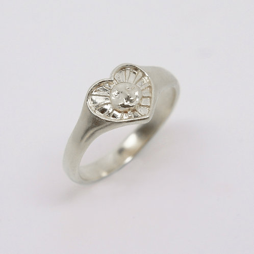 Sunrays of Love Ring, Silver
