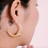 Thumbnail: Large Crescent Moon Hoop Earrings Gold plated