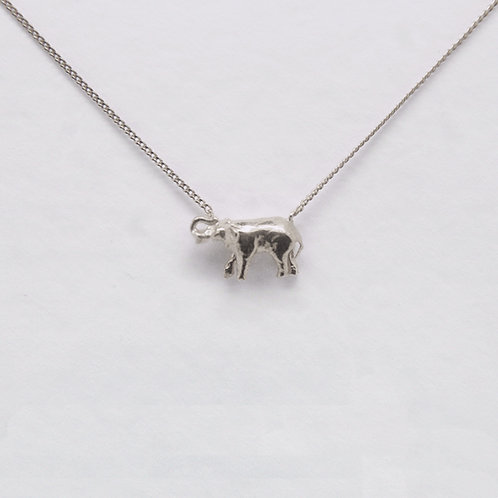 Elephant Necklace Silver