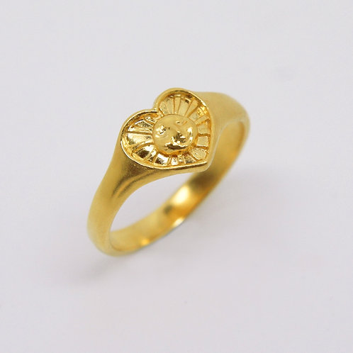 Sunrays of Love Ring, Gold Plated