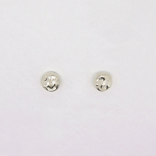 Full Moon Studs Earrings, Silver