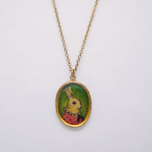 Mrs.Rabbit Portrait Pendant