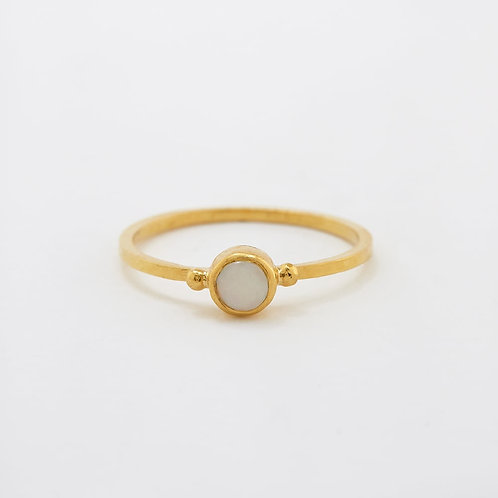 Opal Stacking Ring Gold Plated