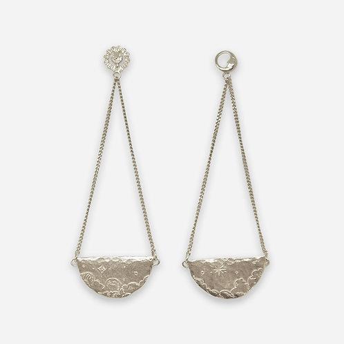 Rendezvous in the Sky Drop Earrings, Silver