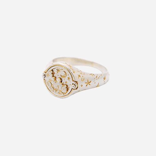 Sun & Moon Magical Dial Ring, Silver & Gold Plated