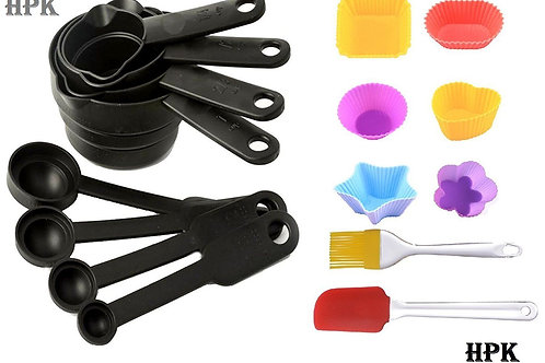 Measuring Cups & Spoons + 6pcs pack Muffin Mould