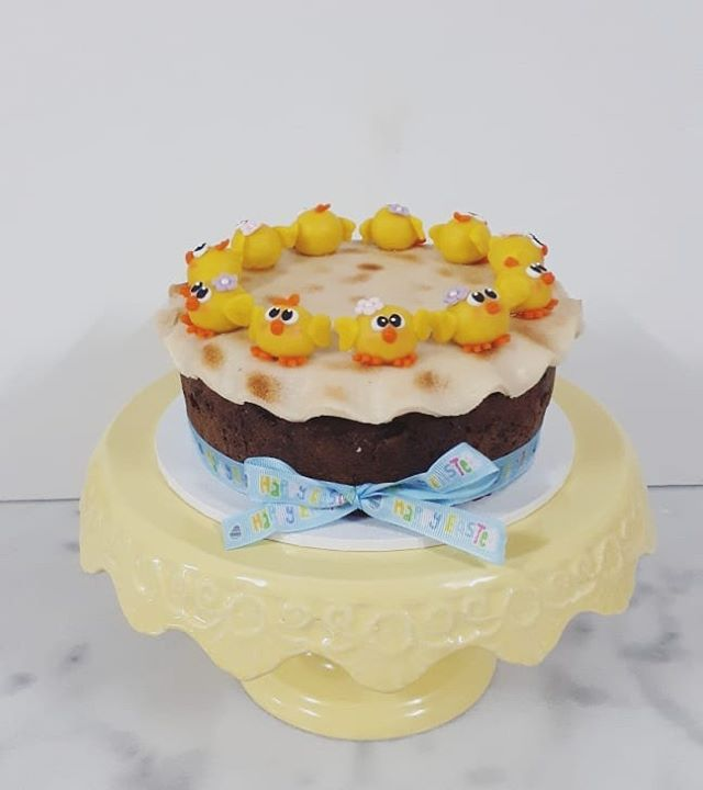 Traditional easter simnel cake which is