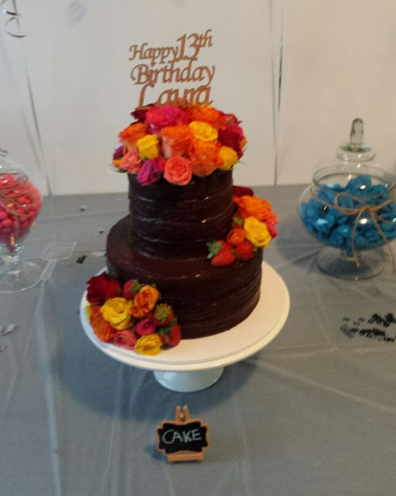 Nutella and strawberry 13th birthday cake