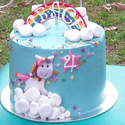 This was for my unicorn loving little God-daughter's 4th Birthday