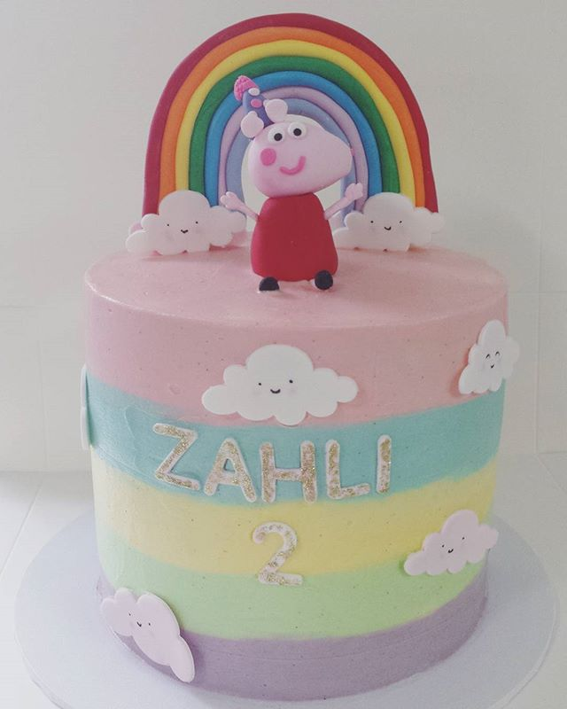 Peppa Pig for gorgeous little Zahli's 2nd Birthday