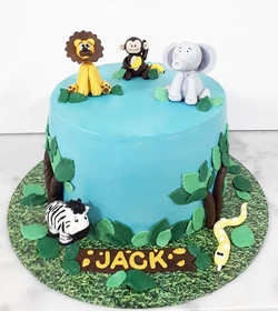 Another sweet little jungle cake for Jac