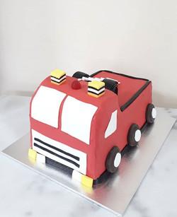Fire Engine for Hudson! Chocolate cake w