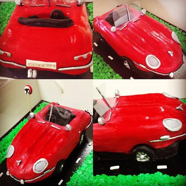 A Jaguar cake to end a very busy weekend! #jaguar #jag #jaguarcake #cakesbyheidi.com