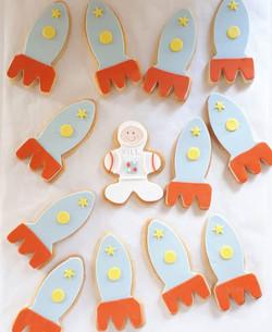 Rocket cookies for astronaut Will! #cook