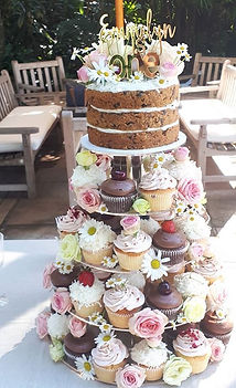 The full cupcake tower for the sweetest