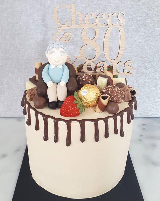 Cheers to 80 years! Vanilla bean cake so