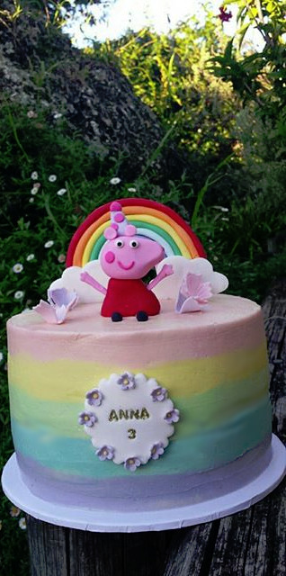 Extra special Peppa Pig Rainbow cake for my gorgeous niece's 3rd birthday_edited