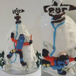 Ice Mountain Climbing Cake ❄ Coffee cake filled with roasted hazlenuts, espresso & kahlua buttercrea