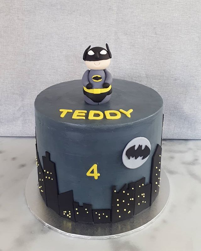 Batman cake for Teddy! Vanilla and raspb