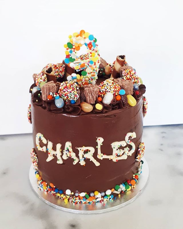 Fun freckles chocolate cake for Charles!