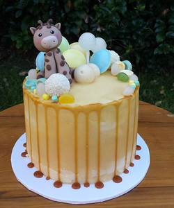 Snickers cake for a new baby boy