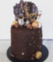 Birthday 2_ 21st cake - dark chocolate m