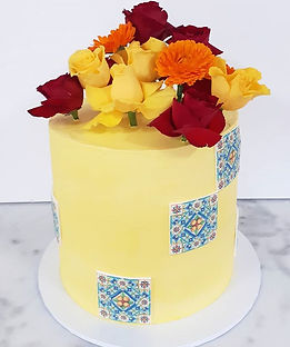 I loved this bright and cheerful cake fo