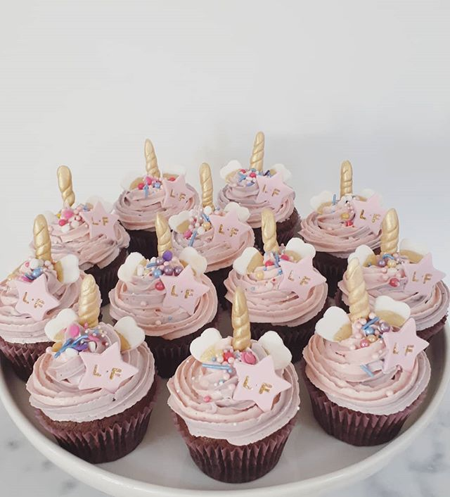 Unicorn Cupcakes! Flourless chocolate cu