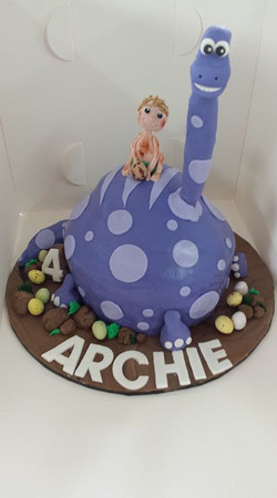 Archie's request was a purple diplodocus