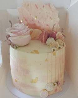 Pretty pastel pinks with gold leaf for a Good Friday 1st Birthday