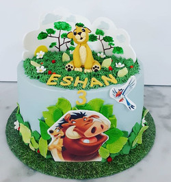 The cake! Happy 3rd Birthday little Esha
