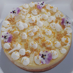 Last order for the weekend. Classic baked New York Cheesecake.This one was gluten free