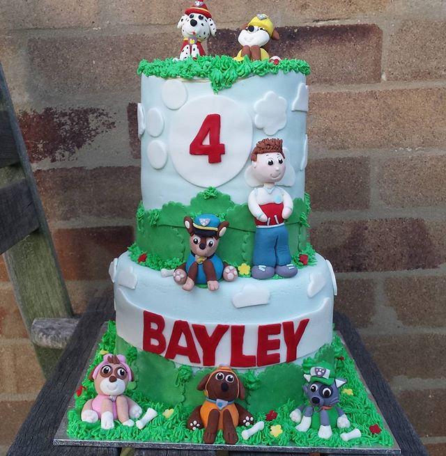 Here is the finished paw patrol cake 🙌🐕🐶 #pawpatrolcake #pawpatrol #cakestagram #cakesbyheidi.com