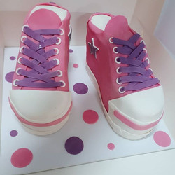 Sunday_ Vanilla Bean and Raspberry Sneakers Cake. Side note...