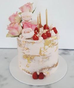 Pink, gold and raspberries! Gluten free