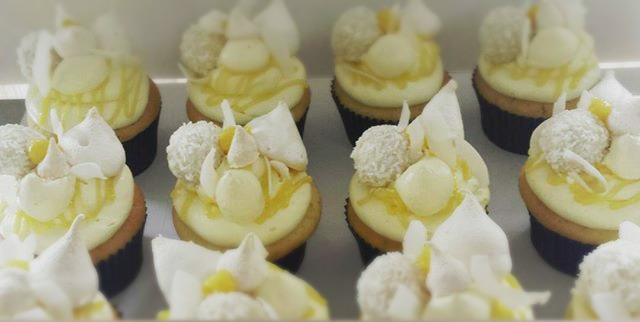 Fancy Pants Lemon meringue and coconut cupcakes. #sydneycakes #cupcakes #lemonandcoconut #lemonmerin
